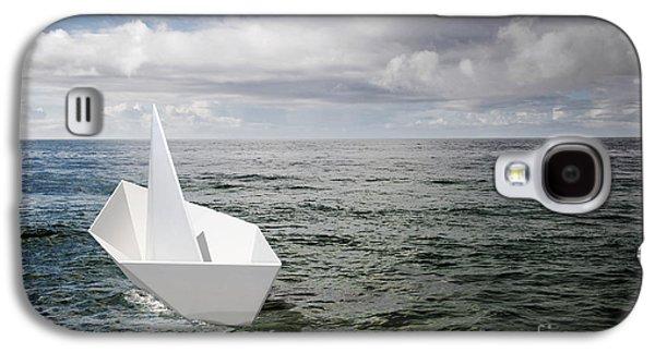 Toy Boat Galaxy S4 Cases - Paper Boat Galaxy S4 Case by Carlos Caetano