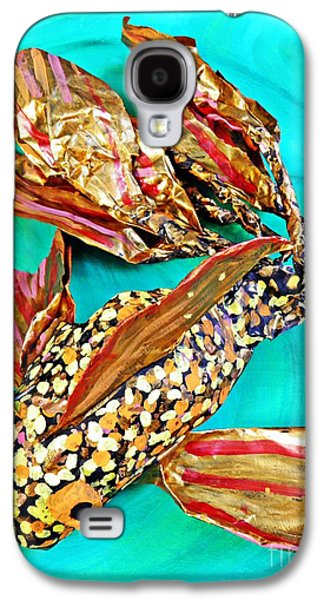 Animals Sculptures Galaxy S4 Cases - Paper Fish Galaxy S4 Case by Sarah Loft