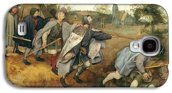 Parable Galaxy S4 Cases - Parable Of The Blind, 1568 Tempera On Canvas Galaxy S4 Case by Pieter the Elder Bruegel
