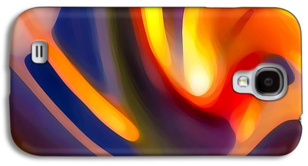 Colorful Abstract Digital Galaxy S4 Cases - Paradise Creation Galaxy S4 Case by Amy Vangsgard