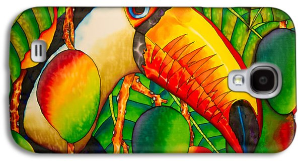Food And Beverage Tapestries - Textiles Galaxy S4 Cases - Paradise Toucan Galaxy S4 Case by Daniel Jean-Baptiste