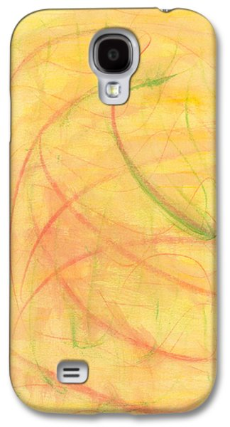 Abstract Movement Drawings Galaxy S4 Cases - Paranoid in Reverse Galaxy S4 Case by Kelly K H B