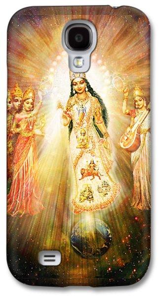 Hindu Goddess Galaxy S4 Cases - Parashakti Devi - the Great Goddess in Space Galaxy S4 Case by Ananda Vdovic