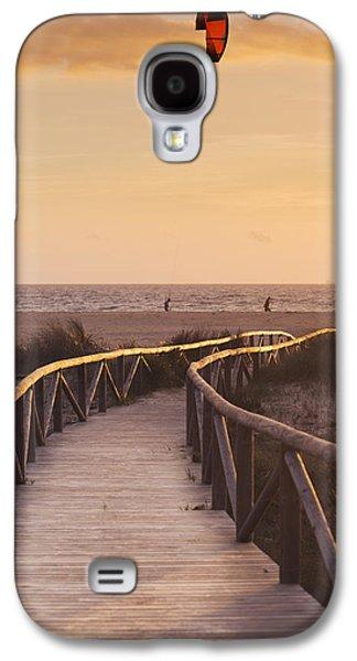 Kiteboarding Galaxy S4 Cases - Parasurfing Tarifa, Costa De La Luz Galaxy S4 Case by Ben Welsh