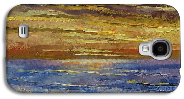 Sunset Abstract Paintings Galaxy S4 Cases - Parfait Sunset Galaxy S4 Case by Michael Creese