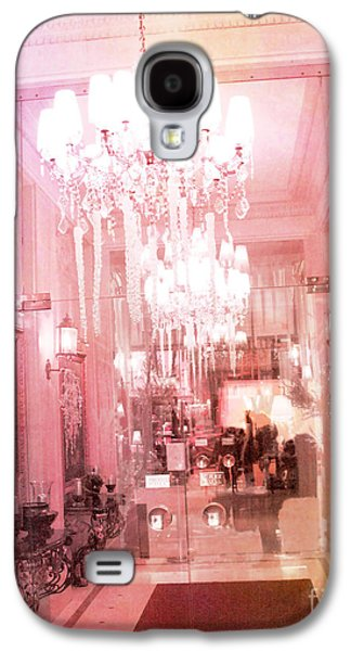 Photographs With Red. Galaxy S4 Cases - Paris Crystal Chandelier Posh Pink Sparkling Hotel Interior and Sparkling Chandelier Hotel Lights Galaxy S4 Case by Kathy Fornal