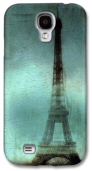 Recently Sold -  - Fantasy Photographs Galaxy S4 Cases - Paris Dreamy Eiffel Tower Teal Aqua Abstract Art Photo - Paris Eiffel Tower Painted Photograph Galaxy S4 Case by Kathy Fornal