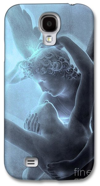 Cupid Galaxy S4 Cases - Paris Eros and Psyche - Louvre Sculpture - Paris Romantic Angel Art Photography Galaxy S4 Case by Kathy Fornal