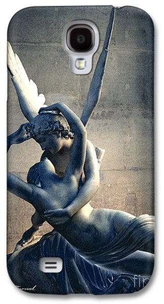 Cupid Galaxy S4 Cases - Paris Eros and Psyche Romantic Lovers - Paris In Love Eros and Psyche Louve Sculpture  Galaxy S4 Case by Kathy Fornal