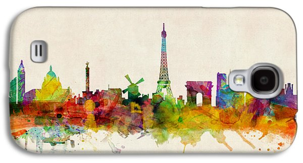 Towers Digital Galaxy S4 Cases - Paris France Skyline Panoramic Galaxy S4 Case by Michael Tompsett