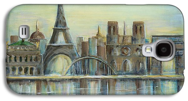 Universities Paintings Galaxy S4 Cases - Paris Highlights Galaxy S4 Case by Marilyn Dunlap