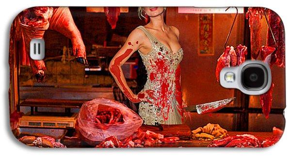 Photorealistic Galaxy S4 Cases - Paris Hilton The Butcher Galaxy S4 Case by Tony Rubino