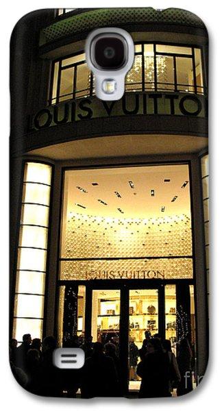 Paris Louis Vuitton Boutique Store Front - Paris Night Photo Louis Vuitton - Champs Elysees  Galaxy S4 Case by Kathy Fornal