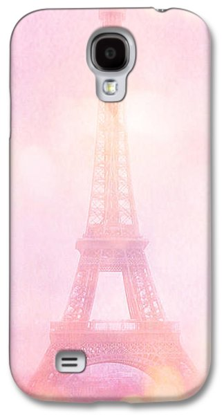 Recently Sold -  - Fantasy Photographs Galaxy S4 Cases - Paris Dreamy Pink Eiffel Tower With Pink Hot Air Balloon - Paris and Balloons Galaxy S4 Case by Kathy Fornal