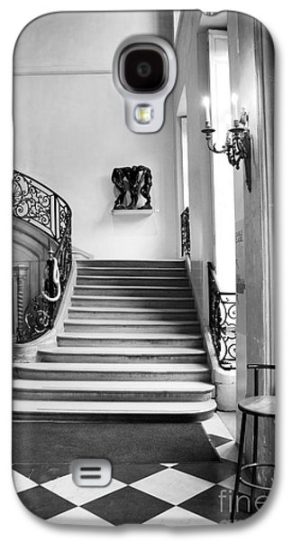 Flooring Galaxy S4 Cases - Paris Rodin Museum Black and White Fine Art Architecture - Rodin Museum Entry Staircase Galaxy S4 Case by Kathy Fornal