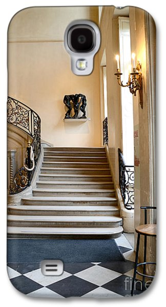 Flooring Galaxy S4 Cases - Paris Rodin Museum Entry Staircase and Architecture Galaxy S4 Case by Kathy Fornal