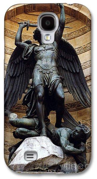 Michael Photographs Galaxy S4 Cases - Paris-Saint Michael Archangel Statue Monument - St. Michael Fountain Square Galaxy S4 Case by Kathy Fornal