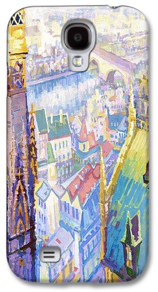 Universities Paintings Galaxy S4 Cases - Paris Shadow Notre Dame de Paris Galaxy S4 Case by Yuriy  Shevchuk