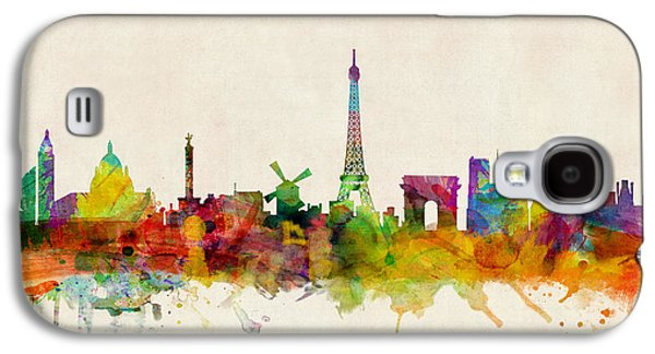 Paris Skyline Galaxy S4 Case by Michael Tompsett