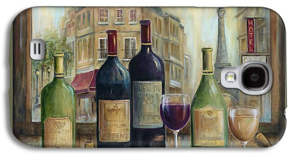 Wine Scene Galaxy S4 Cases - Paris Wine Tasting With A View Galaxy S4 Case by Marilyn Dunlap