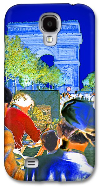 Painter Photo Galaxy S4 Cases - Parisian Artist Galaxy S4 Case by Chuck Staley