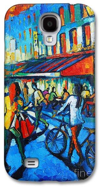 Cloth Galaxy S4 Cases - Parisian Cafe Galaxy S4 Case by Mona Edulesco
