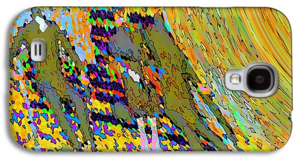 Abstract Digital Paintings Galaxy S4 Cases - Park Bench in Fall Galaxy S4 Case by Cliff Wilson
