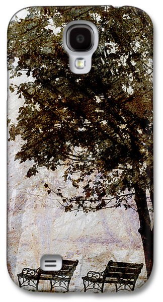 Contemplative Photographs Galaxy S4 Cases - Park Benches Galaxy S4 Case by Carol Leigh