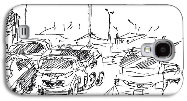 Ink Drawings Galaxy S4 Cases - Parking Lot  Galaxy S4 Case by Ylli Haruni