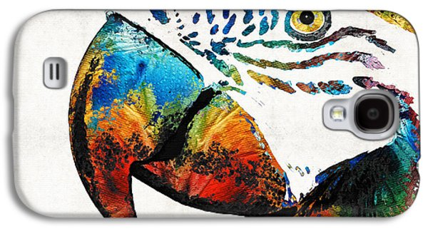 Colorful Abstract Galaxy S4 Cases - Parrot Head Art By Sharon Cummings Galaxy S4 Case by Sharon Cummings