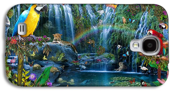 Recently Sold -  - Fantasy Photographs Galaxy S4 Cases - Parrot Tropics Galaxy S4 Case by Alixandra Mullins