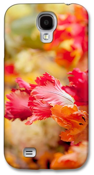 Flower Design Photographs Galaxy S4 Cases - Parrot Tulips 1. Amsterdam Flower Market Galaxy S4 Case by Jenny Rainbow