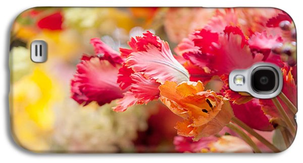 Flower Design Photographs Galaxy S4 Cases - Parrot Tulips. Amstedam Flower Market Galaxy S4 Case by Jenny Rainbow