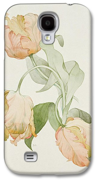 Botanical Galaxy S4 Cases - Parrot Tulips Galaxy S4 Case by Sarah Creswell