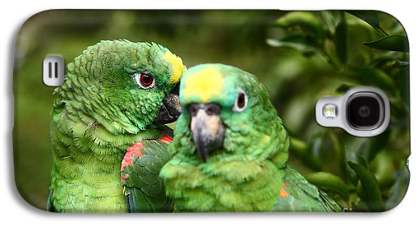 Parrot Whispers Galaxy S4 Case by James Brunker