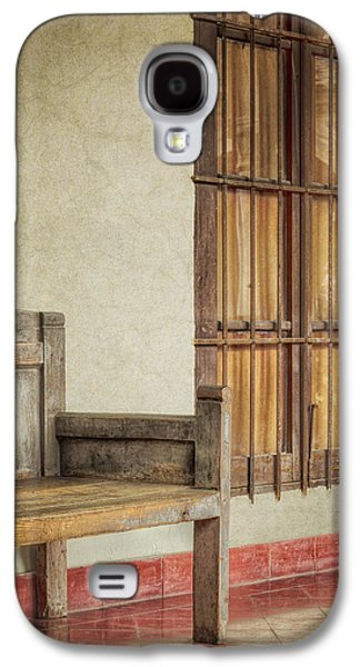 Part Of A Bench Galaxy S4 Case by Joan Carroll