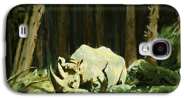 Rhinoceros Paintings Galaxy S4 Cases - Part Of Me Galaxy S4 Case by Sarah Soward