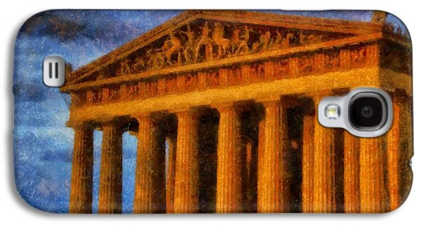 Nashville Paintings Galaxy S4 Cases - Parthenon On A Stormy Day Galaxy S4 Case by Dan Sproul