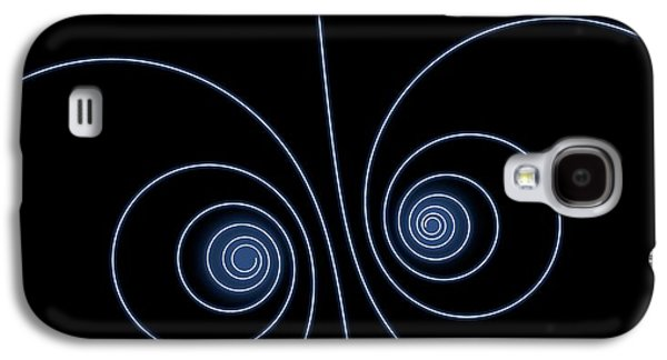 Particle Spirals Galaxy S4 Case by David Parker