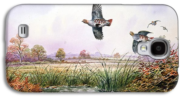 Game Photographs Galaxy S4 Cases - Partridge In Flight Galaxy S4 Case by Carl Donner
