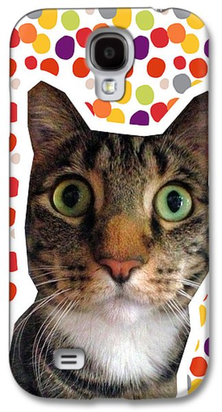 Party Animal - Smaller Cat With Confetti Galaxy S4 Case by Linda Woods