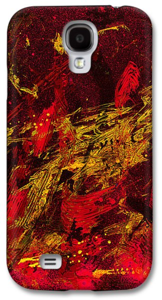 Swiss Mixed Media Galaxy S4 Cases - Party At The Hockey Match - Black Galaxy S4 Case by Manuel Sueess