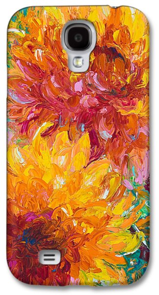 Yellow Paintings Galaxy S4 Cases - Passion Galaxy S4 Case by Talya Johnson