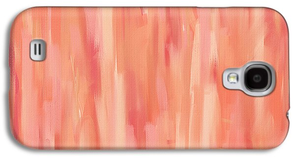Colorful Abstract Galaxy S4 Cases - Passionate Peach Galaxy S4 Case by Lourry Legarde