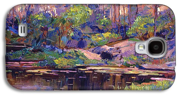 Morning Light Paintings Galaxy S4 Cases - Pastel Lake At Dawn Galaxy S4 Case by David Lloyd Glover