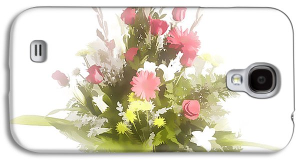 Botanical Pastels Galaxy S4 Cases - Pastel painting spring flower arrangement in Color 3175.02 Galaxy S4 Case by M K  Miller