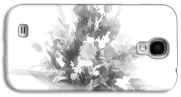 Botanical Pastels Galaxy S4 Cases - Pastel painting spring flower arrangement in Sepia 3175.01 Galaxy S4 Case by M K  Miller