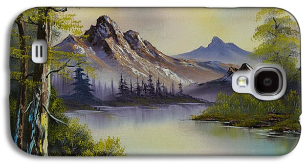 Sawtooth Mountain Paintings Galaxy S4 Cases - Pastel Skies Galaxy S4 Case by C Steele