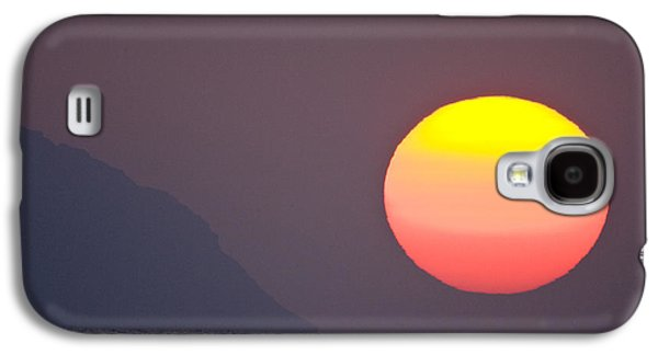 Sunset Framed Prints Galaxy S4 Cases - Pastel Sun Galaxy S4 Case by Sean Davey
