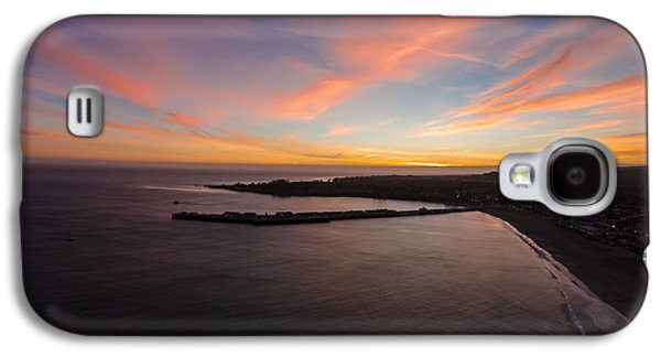 Pastel Sunset Above Santa Cruz Wharf Galaxy S4 Case by David Levy